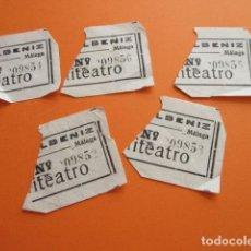 Cine: LOTE 5 ENTRADAS MALAGA ALBENIZ ANFITEATRO. Lote 158666426