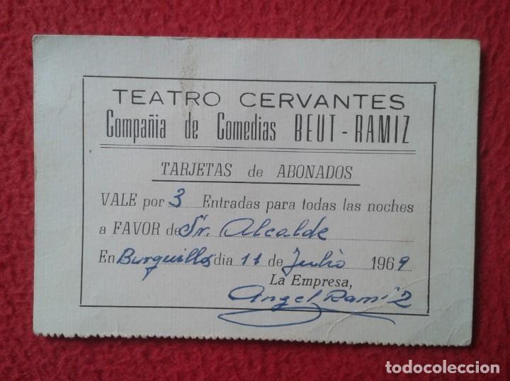 TICKET VALE A FAVOR SEÑOR ALCALDE DE BURGUILLOS POR 3 ENTRADAS TEATRO CERVANTES COMPAÑÍA BEUT-RAMIZ (Cine - Entradas)