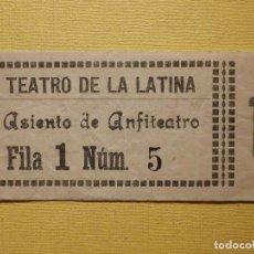 Cine: ENTRADA - TEATRO ESPAÑOL - PALCO PLATEA - AÑOS 70´S. Lote 159753226