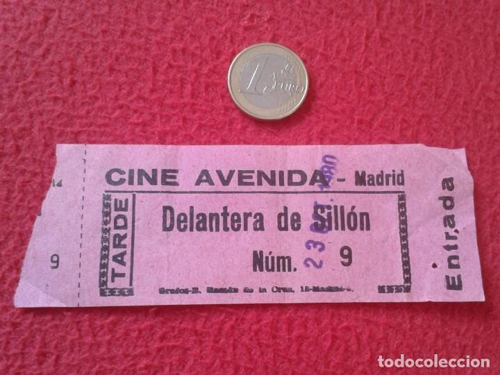 ANTIGUA ENTRADA TICKET ENTRY ENTRANCE CINE CINEMA AVENIDA MADRID SPAIN 1980 TARDE DELANTERA SILLÓN (Cine - Entradas)