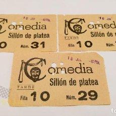 Cine: 3 ENTRADAS PARA EL COMEDIA - AÑOS 60. Lote 164156886