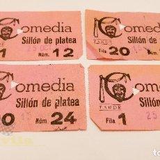 Cine: 4 ENTRADAS PARA EL COMEDIA DE BARCELONA - 1959. Lote 164157494