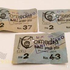 Cine: 3 ENTRADAS PARA EL COMEDIA DE BARCELONA - AÑOS 60. Lote 164157814