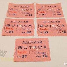 Cine: 5 ENTRADAS CINE ALCAZAR - BARCELONA - 1963. Lote 164167990