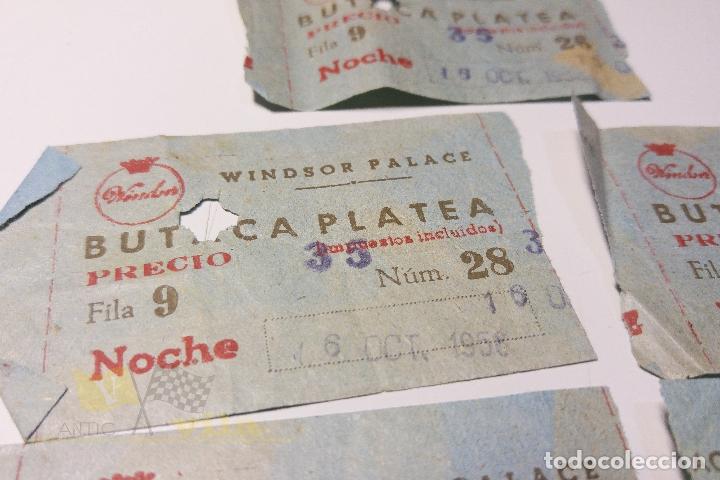 Cine: 5 Entradas Windsor Palace - 1958 - Foto 2 - 164732630