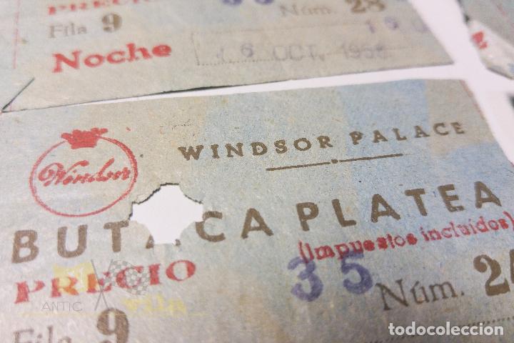 Cine: 5 Entradas Windsor Palace - 1958 - Foto 3 - 164732630