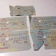 Cine: 5 ENTRADAS WINDSOR PALACE - 1958. Lote 164732630