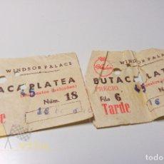 Cine: 2 ENTRADAS WINDSOR PALACE - 1964. Lote 164732850