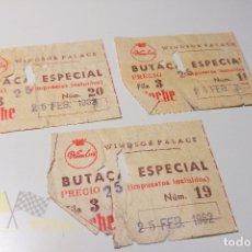 Cine: 3 ENTRADAS WINDSOR PALACE - 1962. Lote 164733022