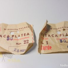 Cine: 2 ENTRADAS WINDSOR PALACE - 1965. Lote 164733674