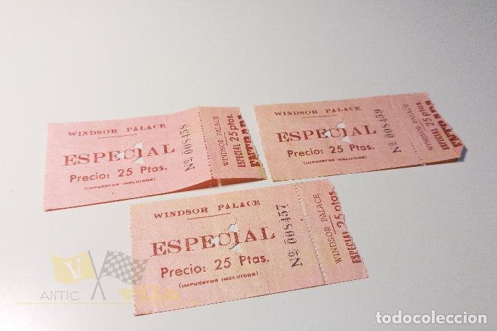 3 ENTRADAS WINDSOR PALACE - ESPECIAL - AÑOS 60 (Cine - Entradas)