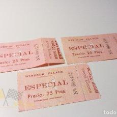 Cine: 3 ENTRADAS WINDSOR PALACE - ESPECIAL - AÑOS 60. Lote 164734062
