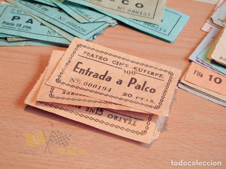 Cine: Lote de Entradas del Cine Euterpe de Sabadell - Años 60 - Foto 2 - 166090418