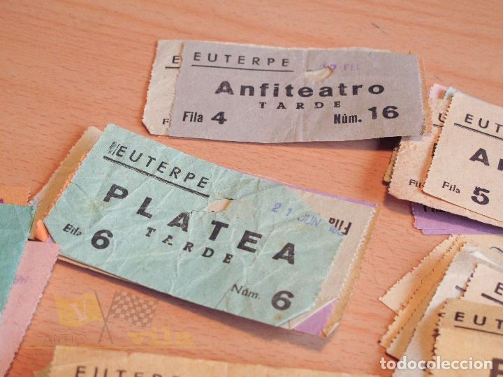 Cine: Lote de Entradas del Cine Euterpe de Sabadell - Años 60 - Foto 6 - 166090418