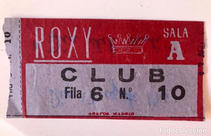 ENTRADA CINE ROXI CLUB 13 DE AGOSTO 1961 PELICULA DIA DEL SUSTO BUEN ESTADO (Cine - Entradas)
