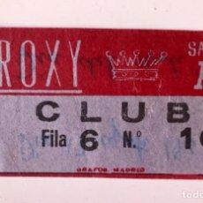 Cine: ENTRADA CINE ROXI CLUB 13 DE AGOSTO 1961 PELICULA DIA DEL SUSTO BUEN ESTADO. Lote 166135918
