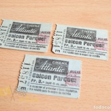 Cine: ENTRADAS CINEMA ATLANTIC - LAUSANE - AÑOS 60. Lote 166752234