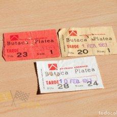 Cine: ENTRADAS ARIBAU CINEMA - 1963. Lote 166937188