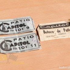 Cine: ENTRADAS CINE CAPITOL - AÑOS 60. Lote 166938812