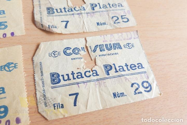 Cine: Entradas Cine Coliseum - 1958 y 1960 - Foto 3 - 167183432