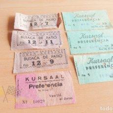 Cine: ENTRADAS KURSAL - AÑOS 60. Lote 167183756