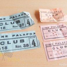 Cine: ENTRADAS CINE PALAFOX - AÑOS 60. Lote 167184120