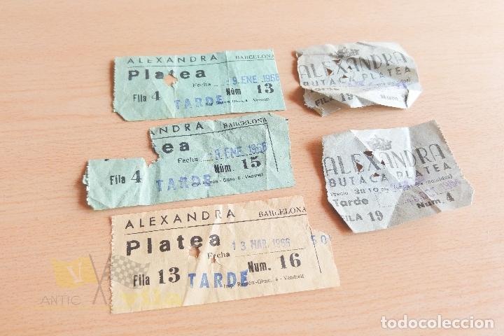 ENTRADAS CINE ALEXANDRA - AÑOS 60 (Cine - Entradas)