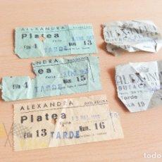 Cine: ENTRADAS CINE ALEXANDRA - AÑOS 60. Lote 167184180
