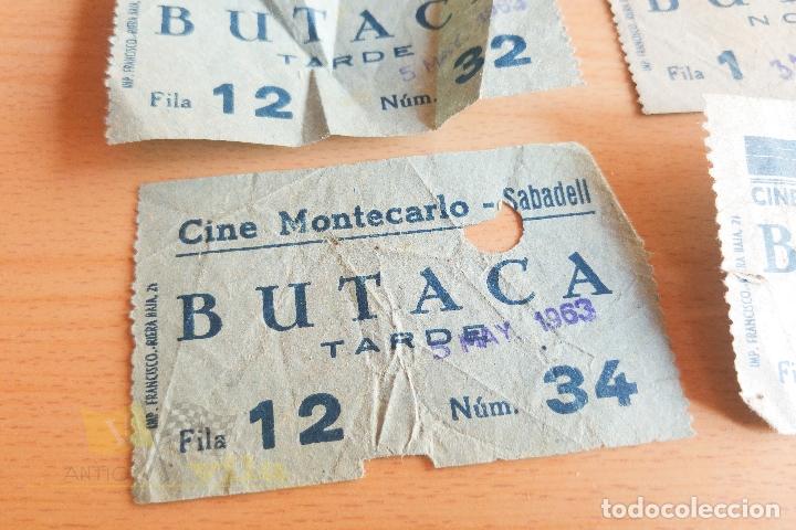 Cine: Entradas Cine Montecarlo - Sabadell - Varios Modelos - Años 60 - Foto 2 - 167184384
