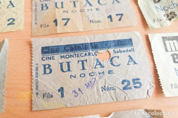 Cine: Entradas Cine Montecarlo - Sabadell - Varios Modelos - Años 60 - Foto 3 - 167184384