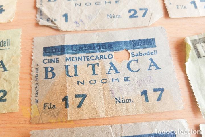 Cine: Entradas Cine Montecarlo - Sabadell - Varios Modelos - Años 60 - Foto 4 - 167184384