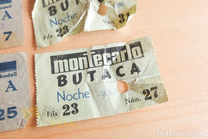 Cine: Entradas Cine Montecarlo - Sabadell - Varios Modelos - Años 60 - Foto 5 - 167184384