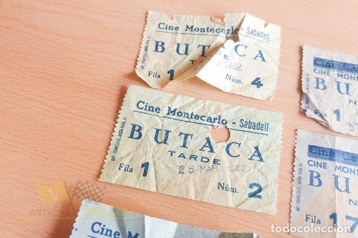Cine: Entradas Cine Montecarlo - Sabadell - Varios Modelos - Años 60 - Foto 6 - 167184384