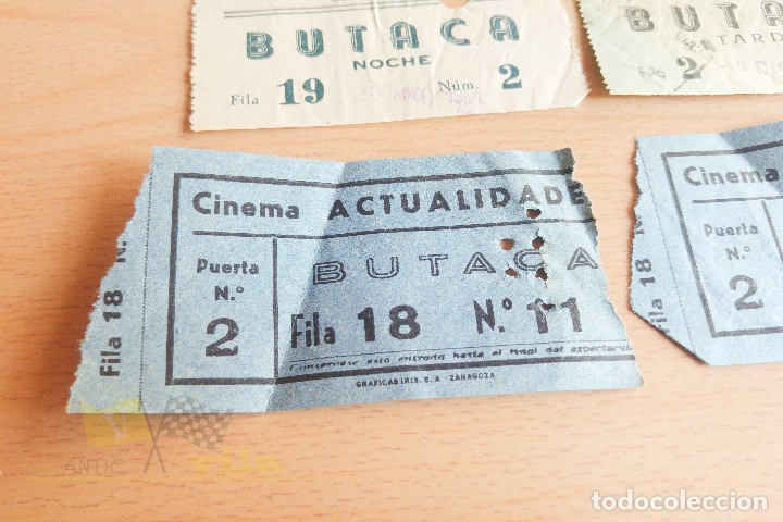 Cine: Entradas Cine Actualidades - Sabadell - Varios Modelos - Años 60 - Foto 2 - 167184420