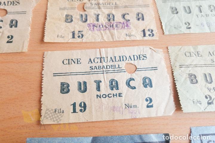 Cine: Entradas Cine Actualidades - Sabadell - Varios Modelos - Años 60 - Foto 3 - 167184420