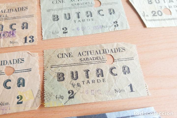 Cine: Entradas Cine Actualidades - Sabadell - Varios Modelos - Años 60 - Foto 4 - 167184420