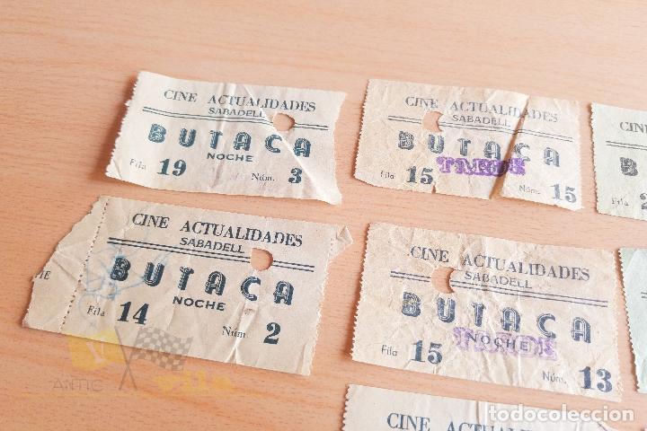 Cine: Entradas Cine Actualidades - Sabadell - Varios Modelos - Años 60 - Foto 6 - 167184420