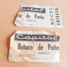 Cine: ENTRADAS CINE CAPITOL - AÑOS 60. Lote 167240328