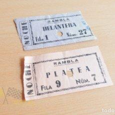 Cine: ENTRADAS CINE RAMBLA - AÑOS 60. Lote 167240816
