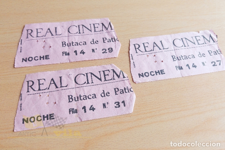 ENTRADAS REAL CINEMA - AÑOS 60 (Cine - Entradas)