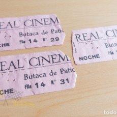 Cine: ENTRADAS REAL CINEMA - AÑOS 60. Lote 167241228