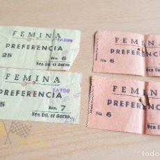 Cine: ENTRADA CINE FEMINA - 1963. Lote 167321736