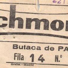 Cinéma: RICHMOND.- BUTACA DE PATIO. Lote 171009944