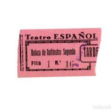 Cine: ENTRADA TEATRO ESPAÑOL 1936. Lote 171700712