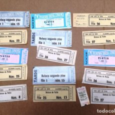Cine: LOTE DE 16 ENTRADAS DE CINE.TEATRO IDEAL CINEMA.CINEMA GOYACINE LOPE DE VEGA.CALAHORRA LA RIOJA.. Lote 172079297