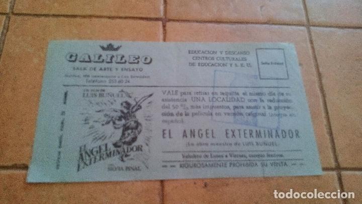 EL ANGEL EXTERMINADOR - LUIS BUÑUEL - SALA GALILEO (MADRID) - EDUCACION Y DESCANSO SINDICATO S.E.U. (Cine - Entradas)