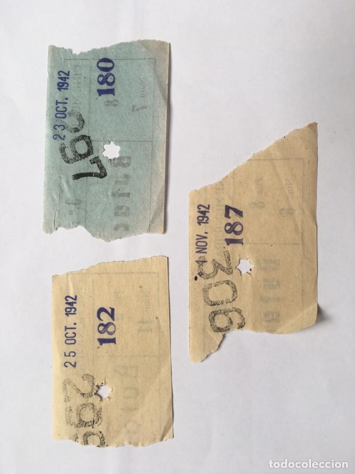 Cine: Entrada lote 3 unidades Cine Municipal año 1942 - Foto 2 - 175604895