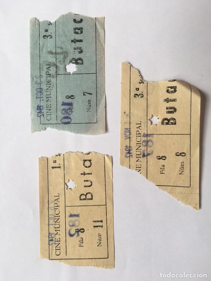 ENTRADA LOTE 3 UNIDADES CINE MUNICIPAL AÑO 1942 (Cine - Entradas)