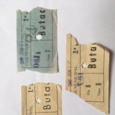 Cine: ENTRADA LOTE 3 UNIDADES CINE MUNICIPAL AÑO 1942. Lote 175604895