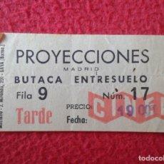 Cine: BILLETE ENTRADA TICKET ENTRY ENTRANCE VALE BOLETO CINE ? TEATRO ? PROYECCIONES MADRID CINERAMA VER. Lote 175672259
